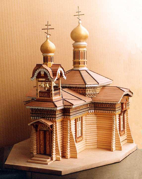 Деревянные модели церквей